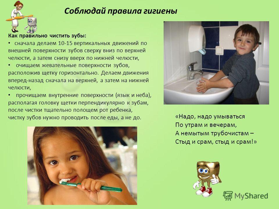 6 правил личной гигиены для детей - zewa