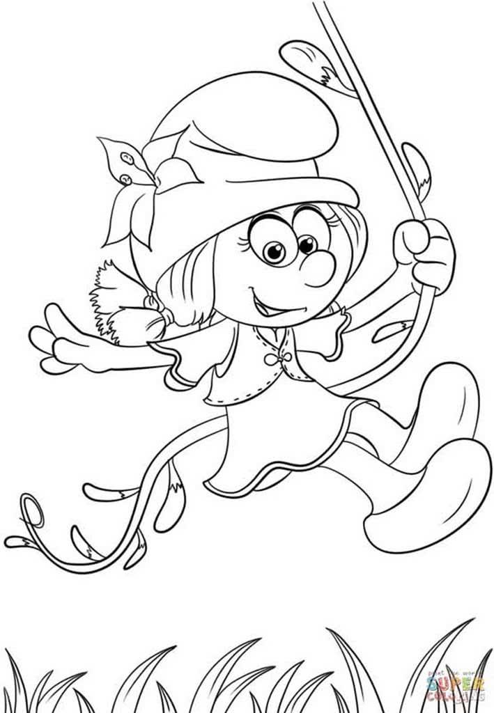 Раскраска смурфик ворчун | раскраски смурфики (smurfs). раскраска смурфы - smurfs coloring pages