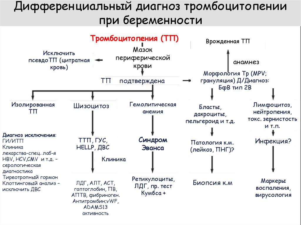 Тромбоцитопения у детей
