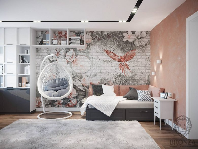 Идеи дизайна и интерьера молодежной комнаты