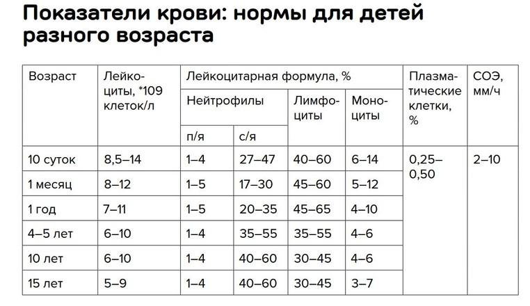 Лимфоциты у детей - норма. лимфоциты у детей (норма) - таблица