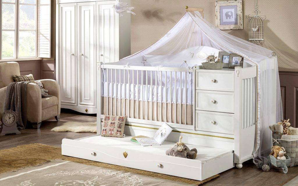 Виды детских кроваток для новорожденных: какие бывают постели для малышей, а также их обзор и советы родителям по выбору