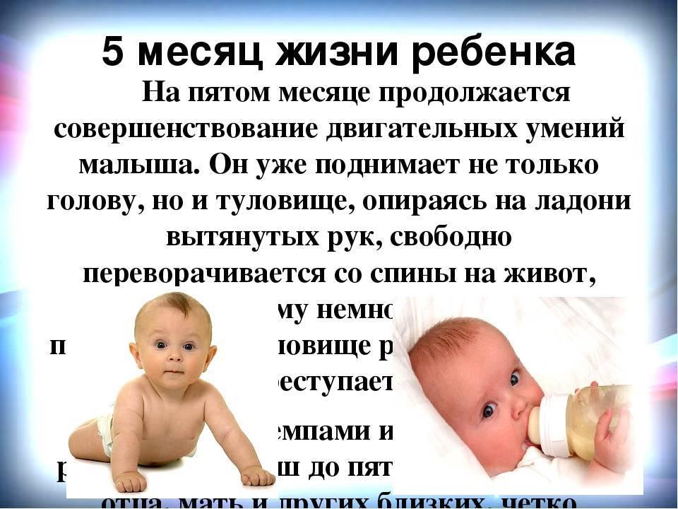 Что должен уметь ребенок в 5 месяцев | уроки для мам