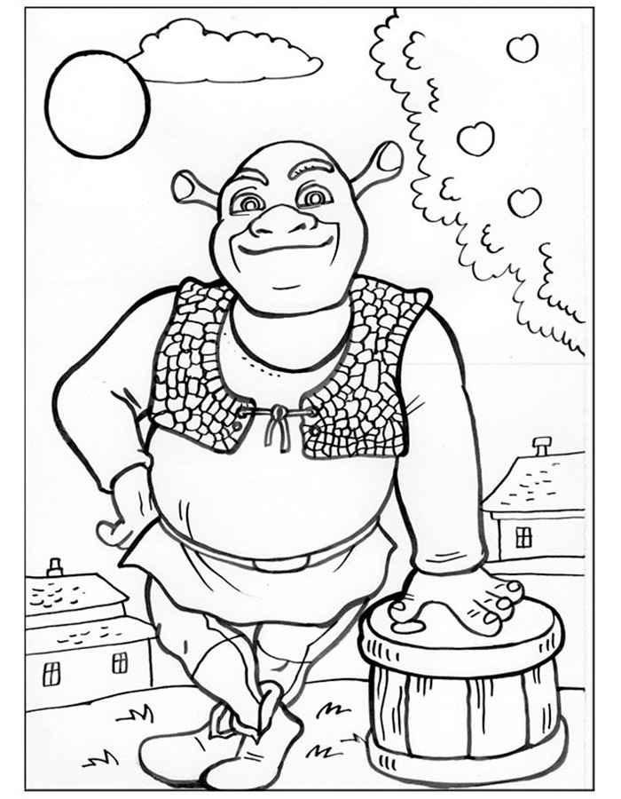 Раскраска шрек и фиона   раскраски из мультфильма шрек 2 (shrek 2)