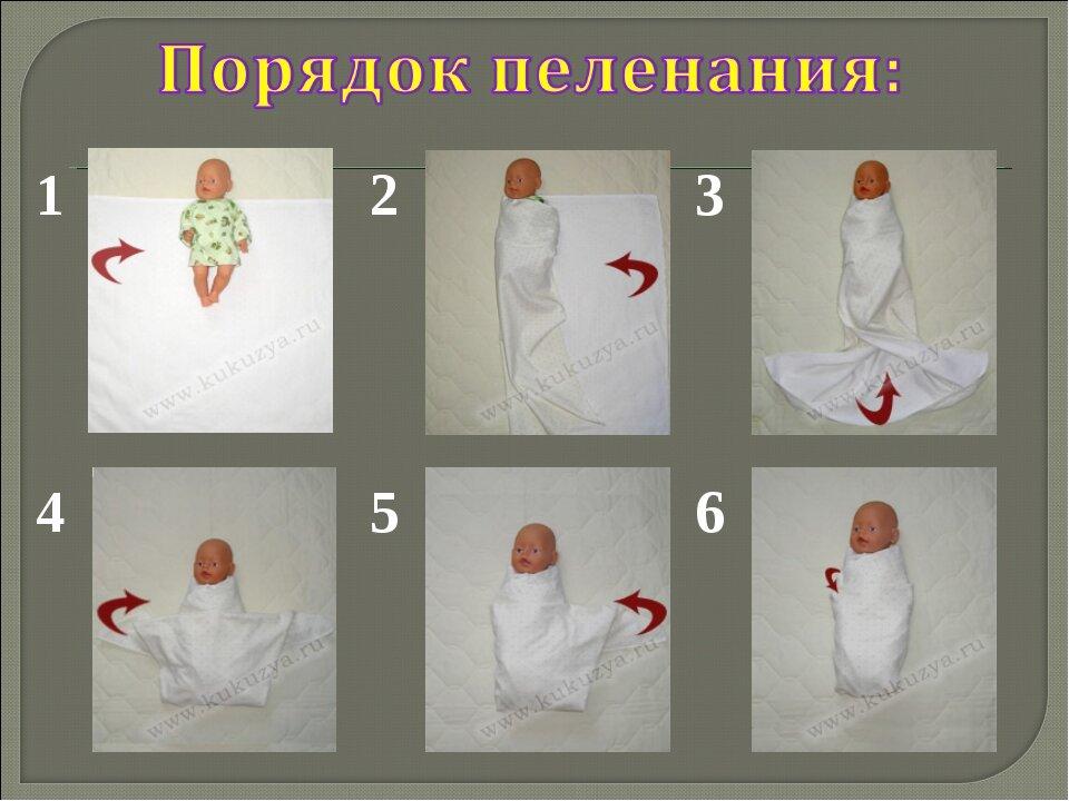 Как правильно пеленать новорожденного: обзор 7 способов и важные правила от врача-педиатра, видео