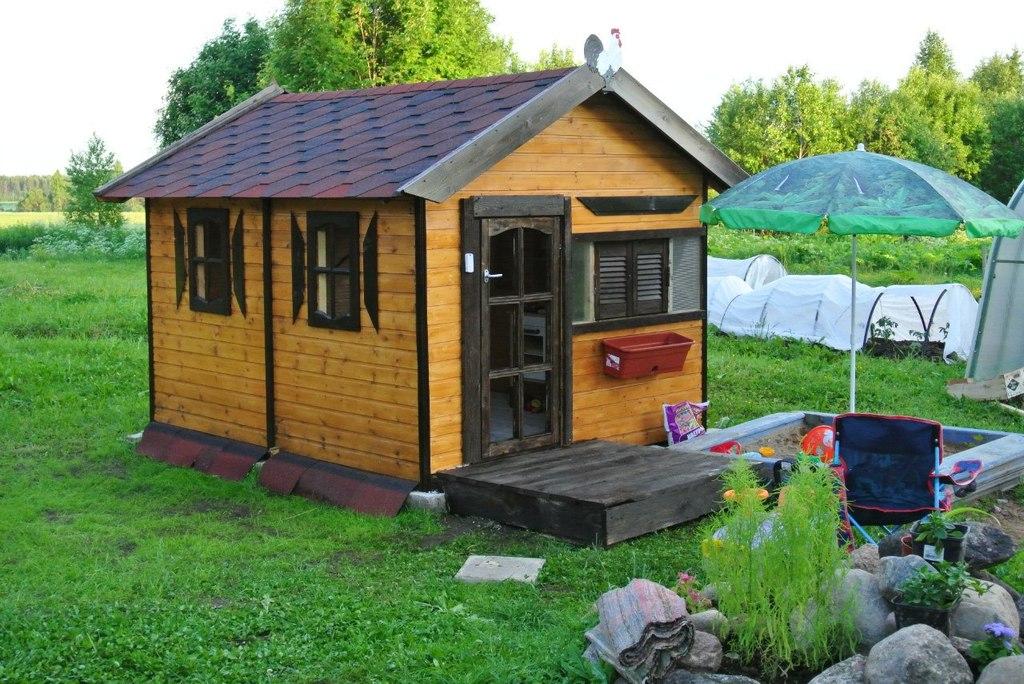 «Где живёт сказка», или какими бывают детские домики для дачи и квартиры?