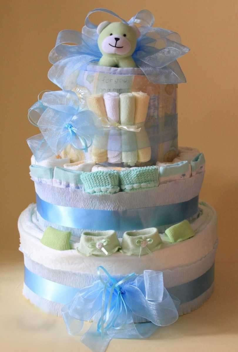 Букет и тортики из памперсов   страна мастеров