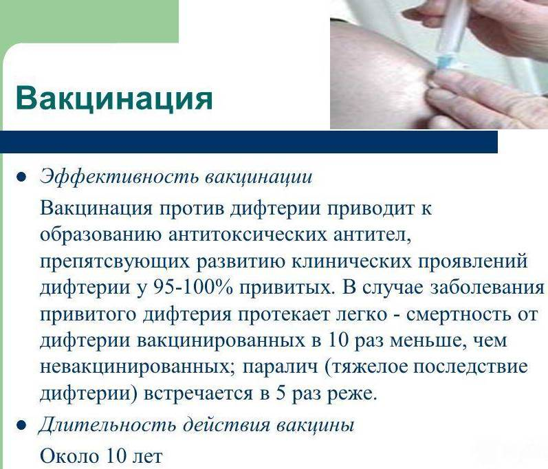 Прививка от дифтерии взрослым: когда делают, побочные эффекты, противопоказания