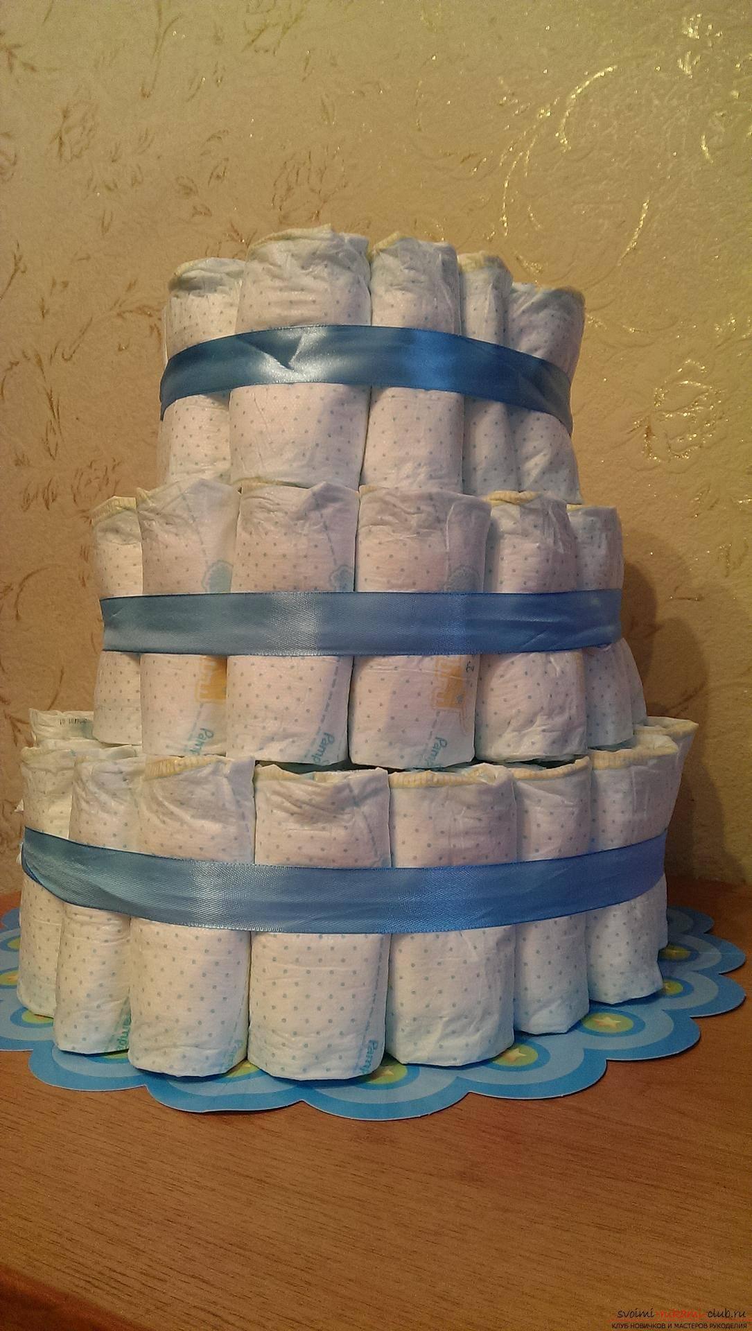 Тортик из памперсов мк
