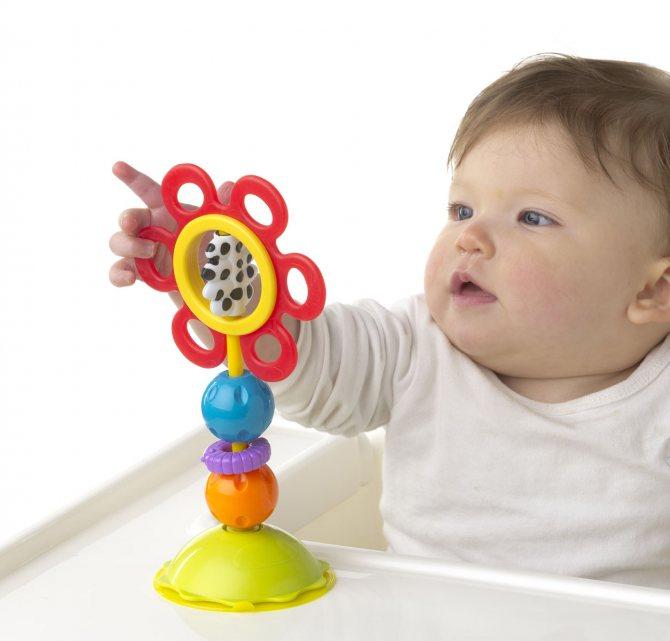 Первые игрушки для новорожденных: выбираем полезные и безопасные погремушки