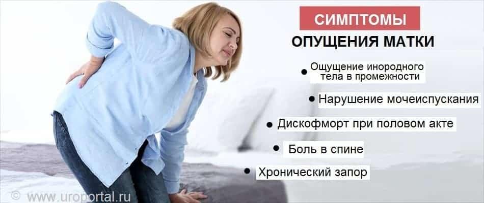 Опущение и выпадение матки после родов: причины, симптомы, лечение и упражнения для профилактики