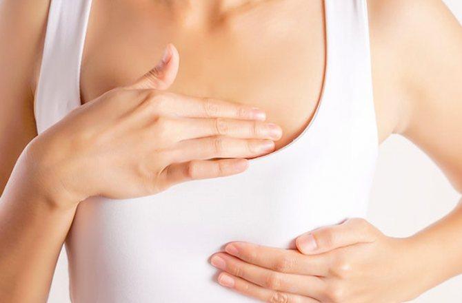 Через неделю после месячных болит грудь и живот