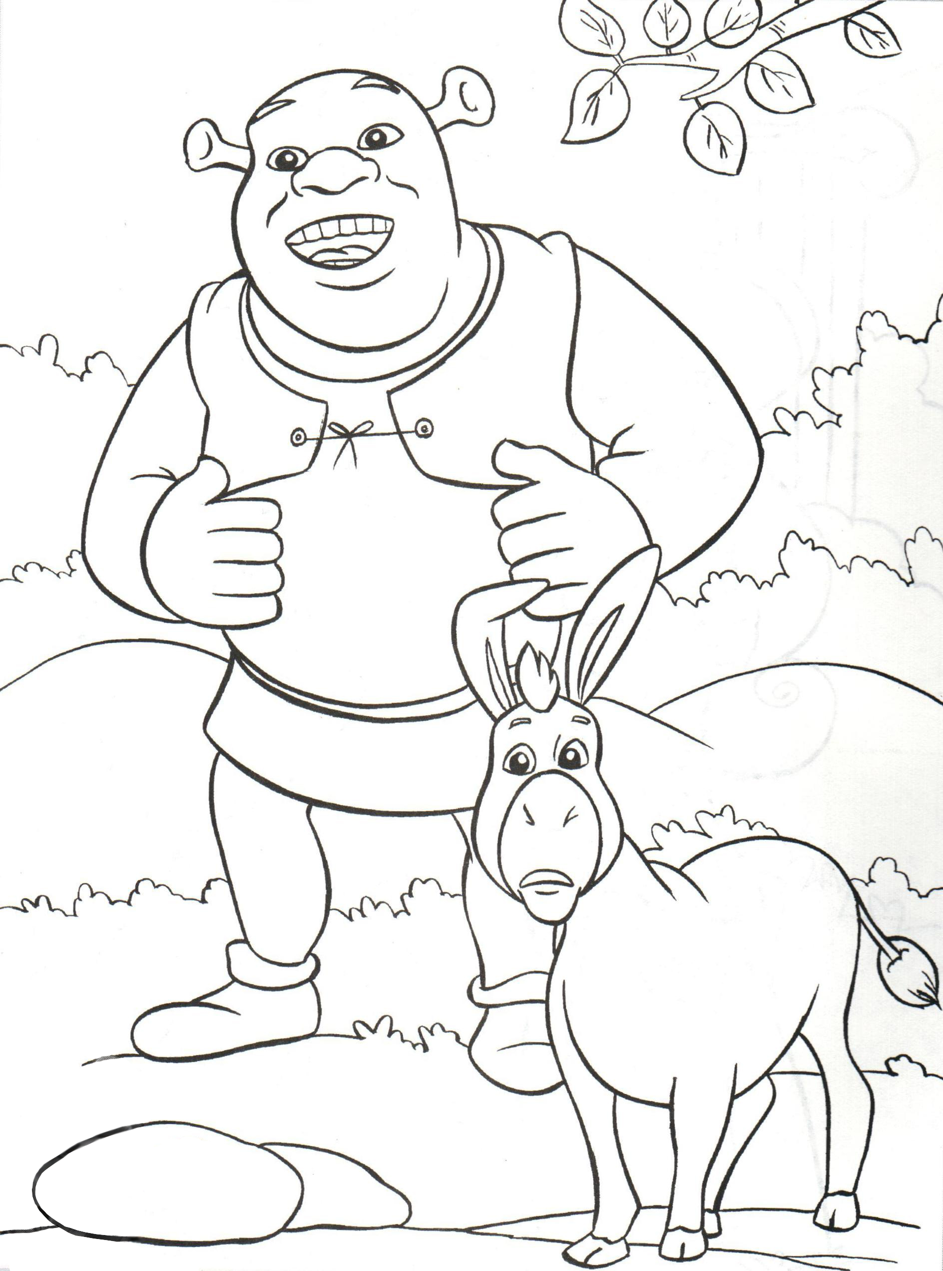 Раскраска замок неприступен   раскраски из мультфильма шрек 2 (shrek 2)