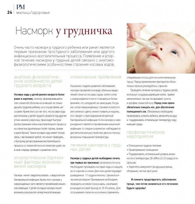 Как почистить нос новорожденному ребенку от сухих козявок и соплей аспиратором, ватным жгутиком, грушей в домашних условиях - статья с видео
