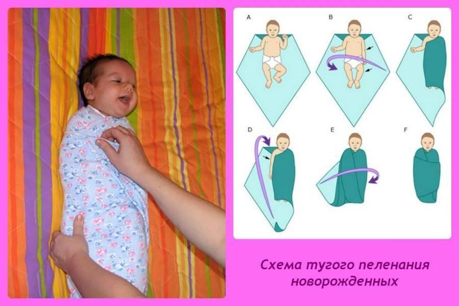 Вред и польза пеленания ребенка