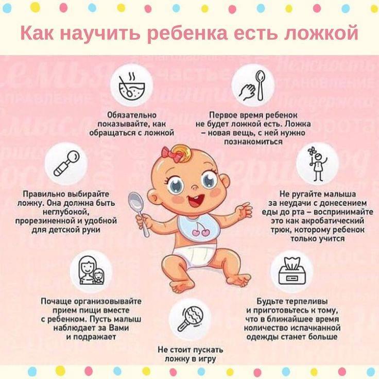 Как научить ребенка кушать самому ложкой в любом возрасте