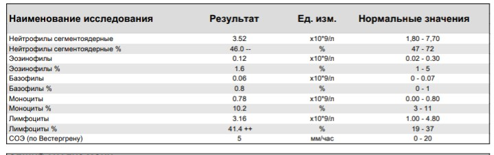 Повышение сегментоядерных нейтрофилов в крови: причины