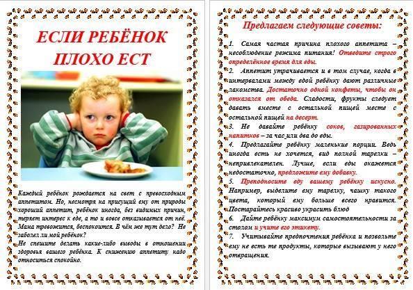 Ребенок отказывается от еды: что делать? 12 шагов. плохой аппетит у ребенка от 2 до 5 лет