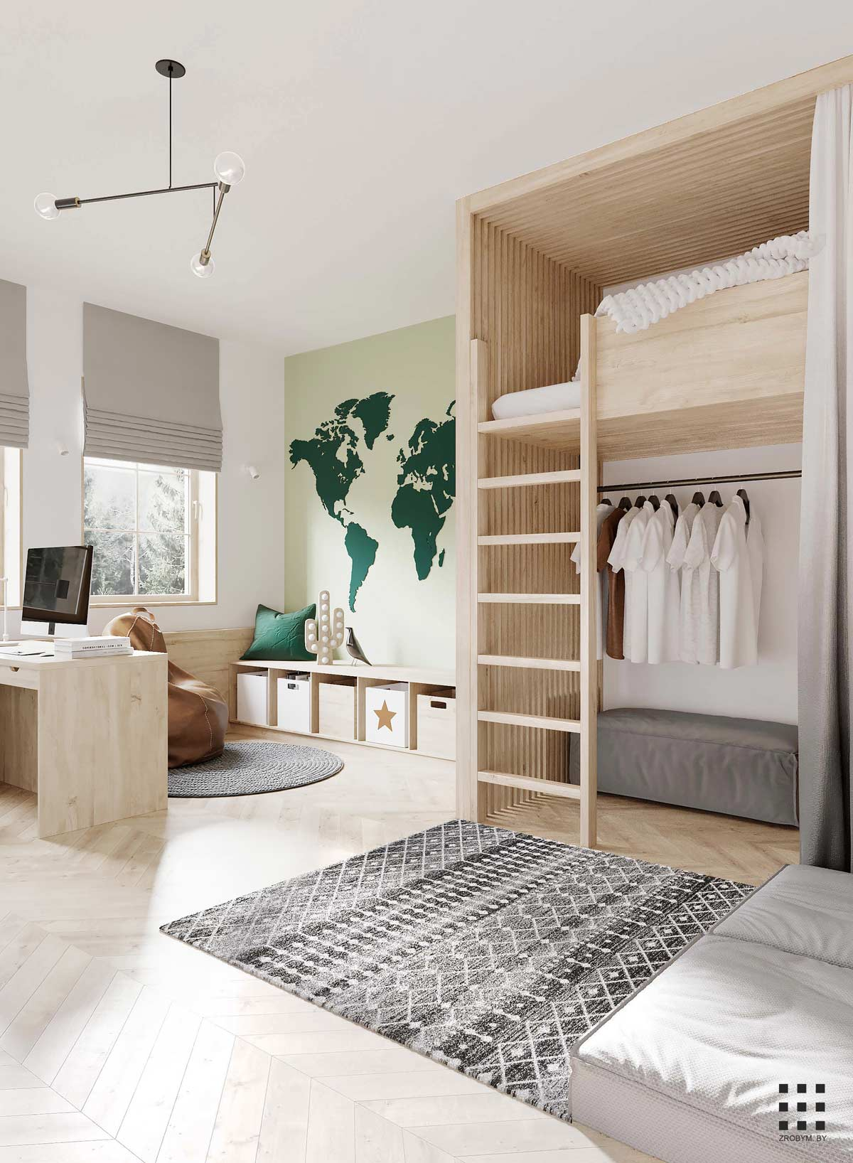 Дизайн маленькой квартиры-студии: оптимальная меблировка и зонирование