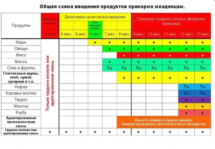 Педагогический прикорм при грудном вскармливании: таблица и рекомендации