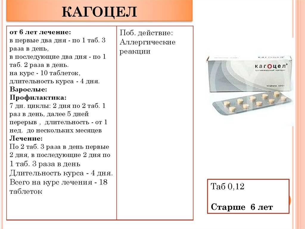 Кагоцел: инструкция по применению, отзывы и цены
