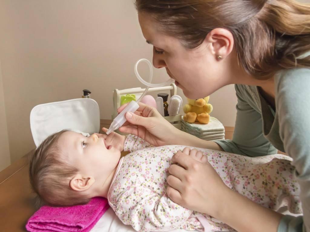 У ребенка заложен нос соплей нет чем лечить