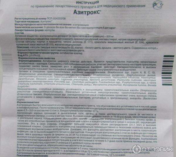 Антибиотик азитрокс для детей: показания и инструкция по применению