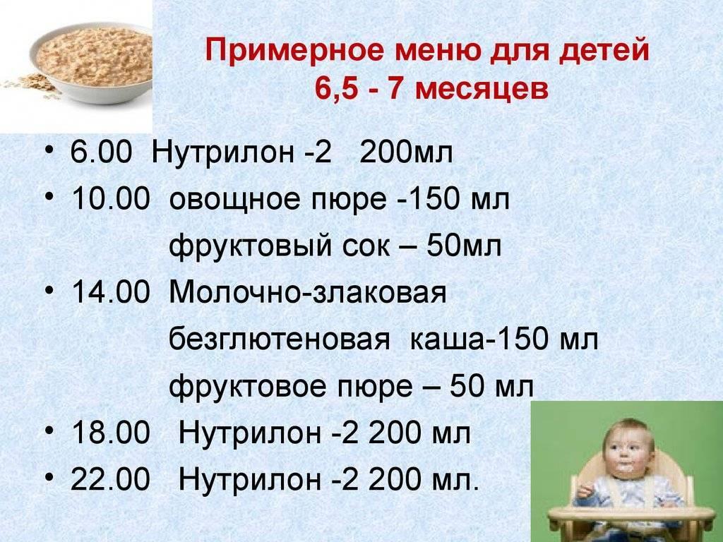 Меню ребенка в 8 месяцев с лучшими рецептами