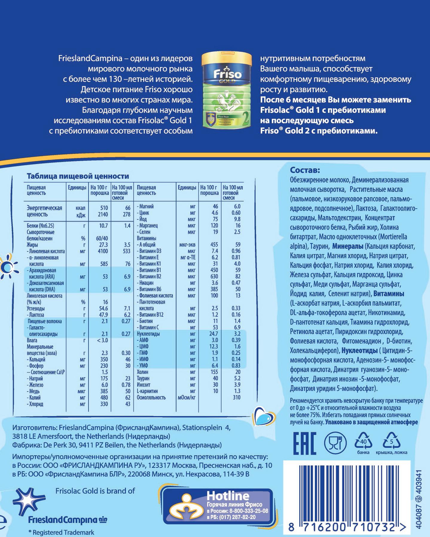 Обзор детских молочных смесей «фрисо» - топотушки
