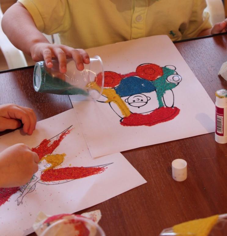 Конспект занятия «рисунки на песке»