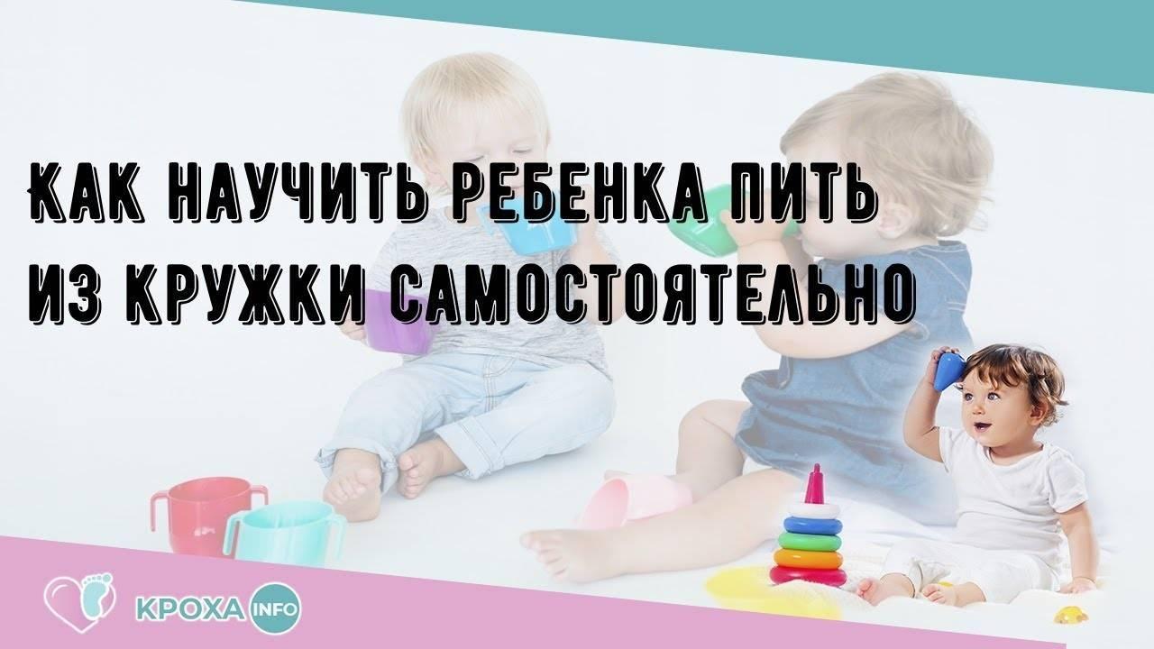 Как приучить ребенка пить из кружки?