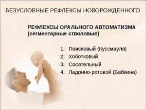 Физиологические рефлексы у детей до года