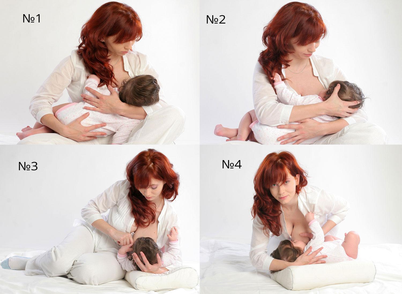 Правильные позы для кормления новорожденного - всё о грудничках