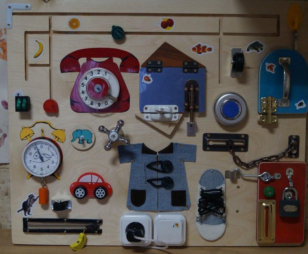 Бизиборды для детей - коробочка идей и мастер-классов