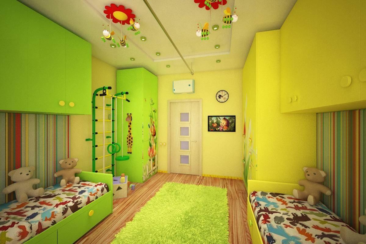 Дизайн детской для двоих девочек: идеи, особенности - 75 фото