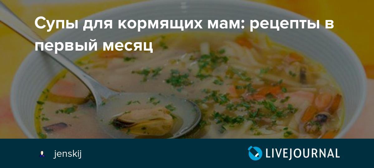 Супы для кормящих мам: лучшие рецепты