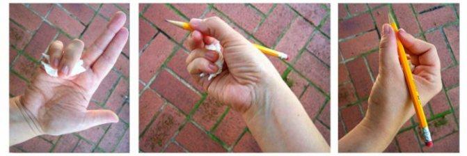 Как научить ребенка правильно держать ручку или карандаш при письме: 6 простых способов