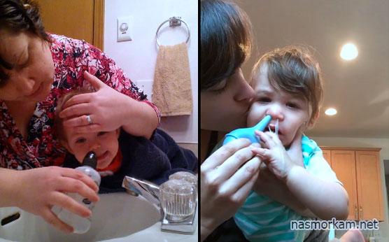 Как и чем промыть нос ребенку при насморке в домашних условиях