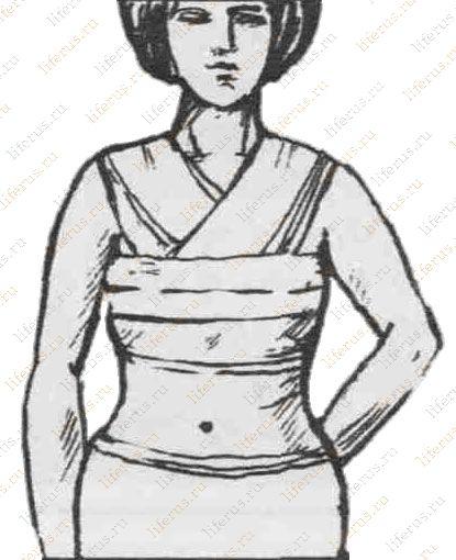 Как правильно перевязать грудь для завершения лактации