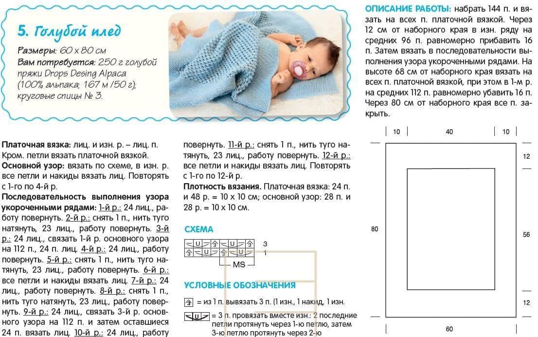 Связать спицами детский плед: фото и обзор разных идей