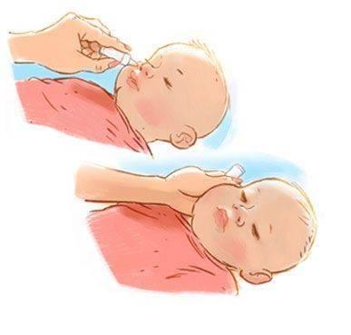 Как капать капли в нос новорожденному?   медик03