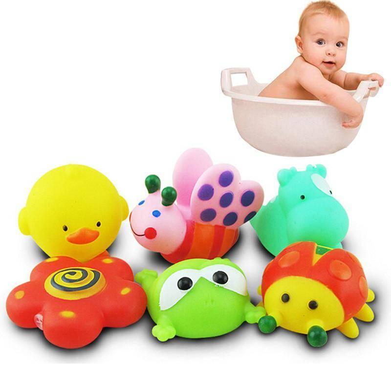 Игрушки для купания в ванной для детей, резиновые игрушки для купания, водные игрушки