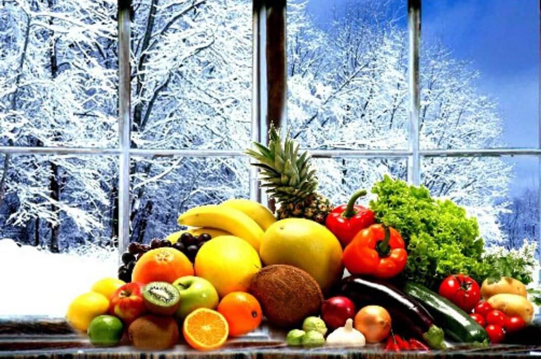 Необходимые фрукты и овощи для ребенка зимой