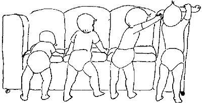 Во сколько ребёнок начинает вставать на ноги