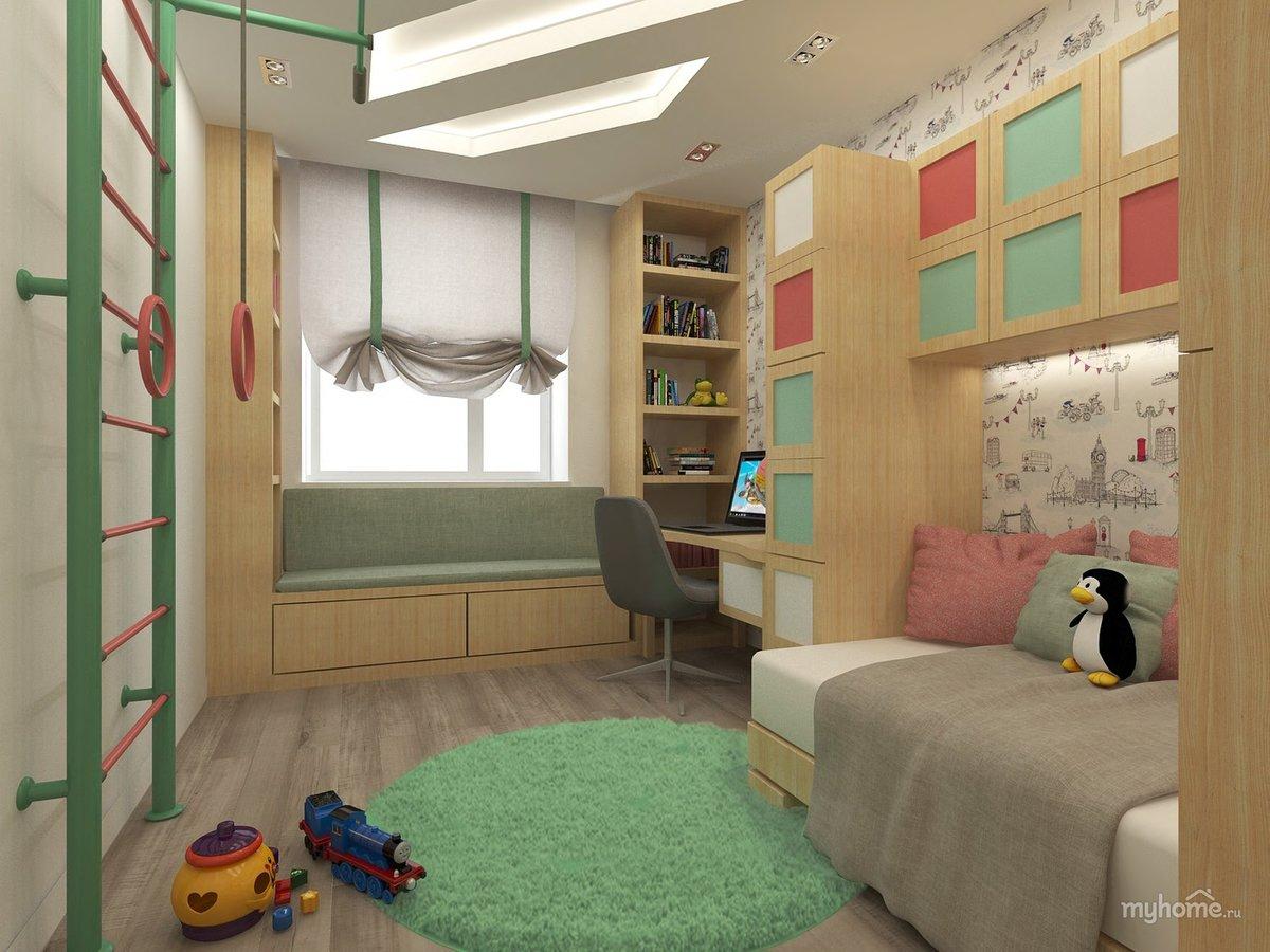 4 реальных детских площадью 10 кв. метров