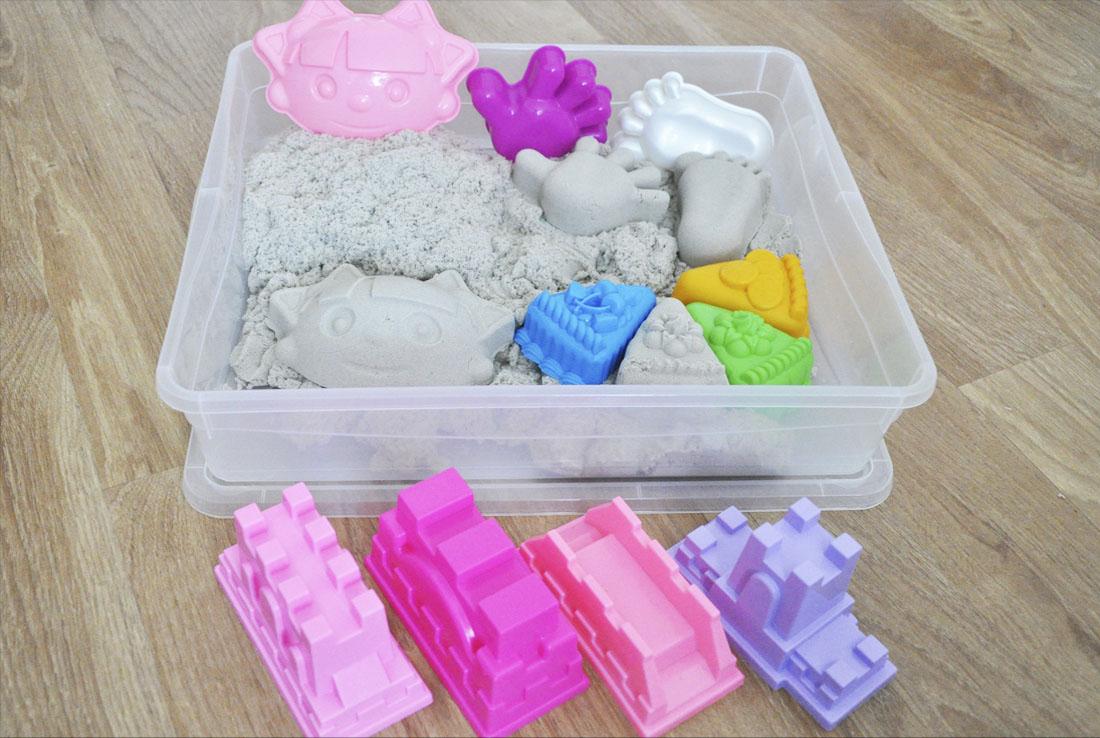 Песочницы с кинетическим песком для дома - преимущества, игры