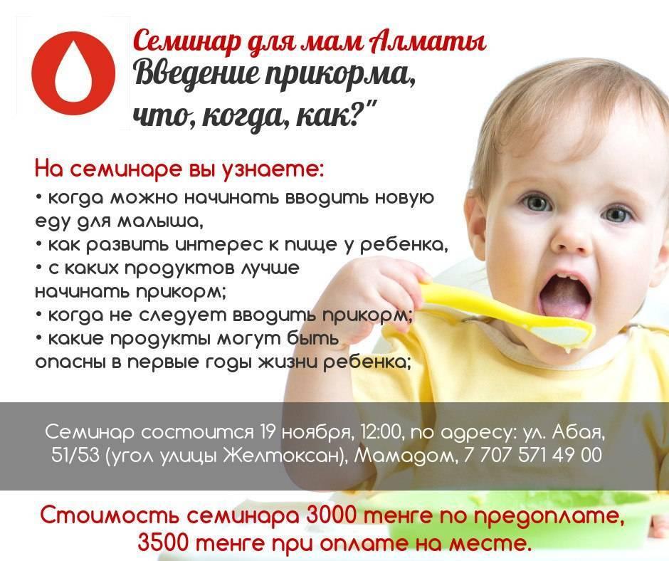 Прикорм по комаровскому по месяцам, таблица введений / mama66.ru