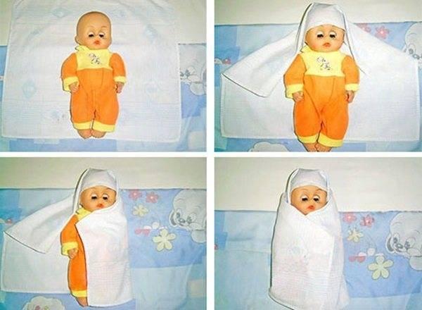 Свободное и тугое пеленание: как запеленать новорожденного ребенка в пеленку