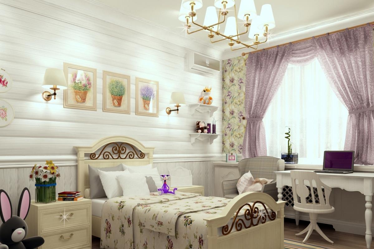 Детская комната в стиле прованс: 65 идей с фото