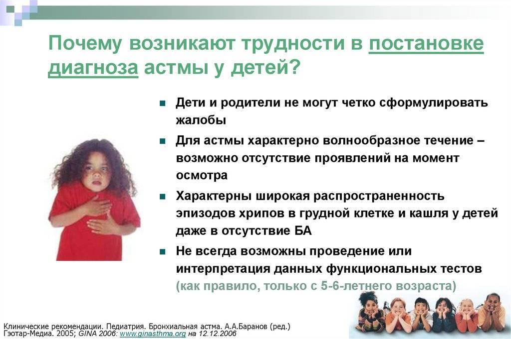Бронхиальная астма у детей: симптомы и лечение, признаки, как начинается, проявляется, диагностика, профилактика